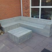 Loungebank LOW met hocker2